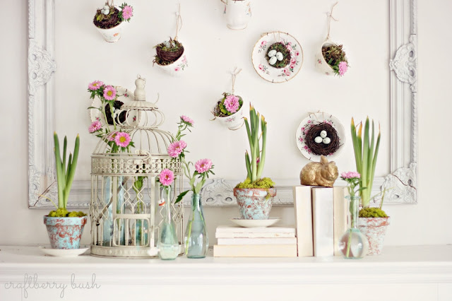 Spring mantel craft