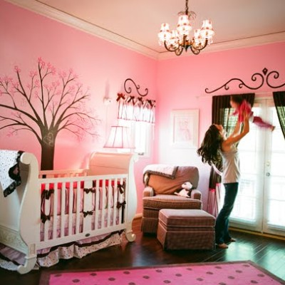pink-brown-nursery